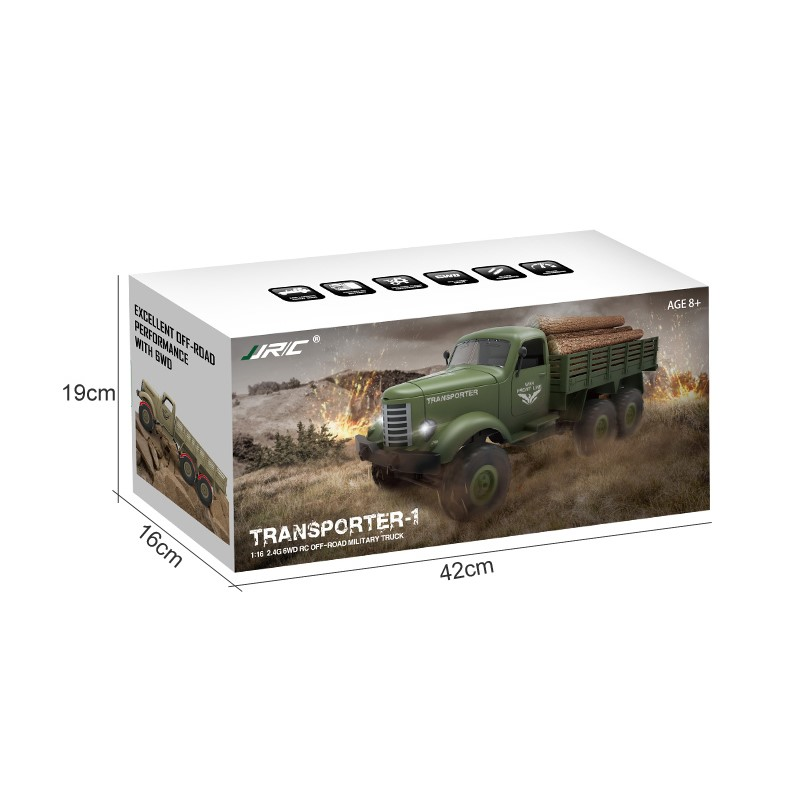 1:16  2.4G 6WD RC OFF-ROAD MILITARY TRUCK