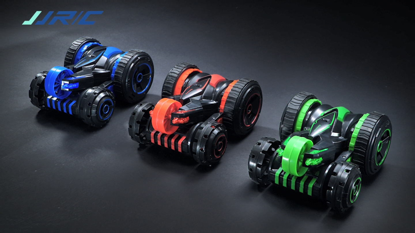 Q49 2.4G OFF-ROAD RC STUNT CAR WITH 360°ROTATION & DOUBLE SIDES RACING